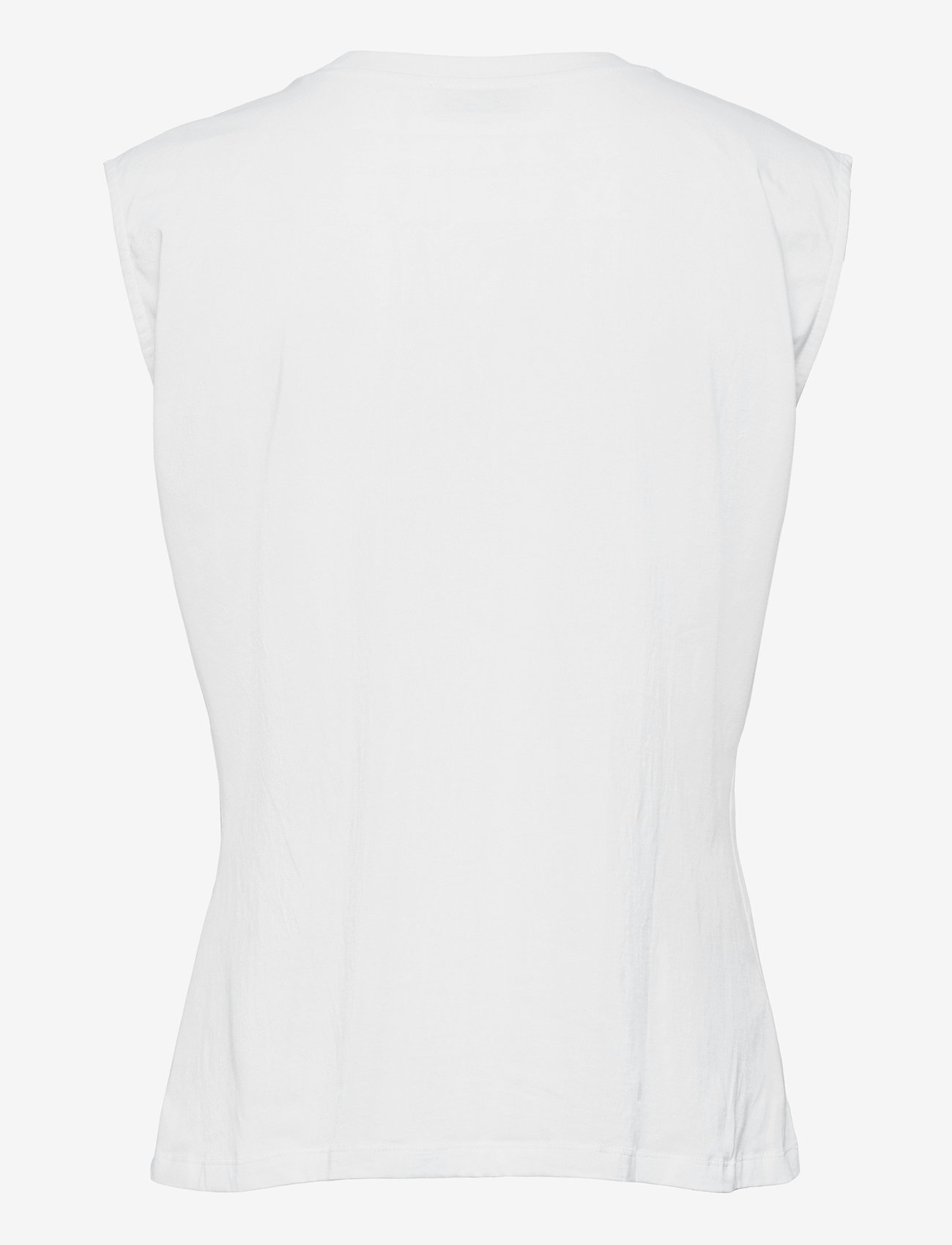 NORR - Augustin top - sleeveless blouses - white - 1