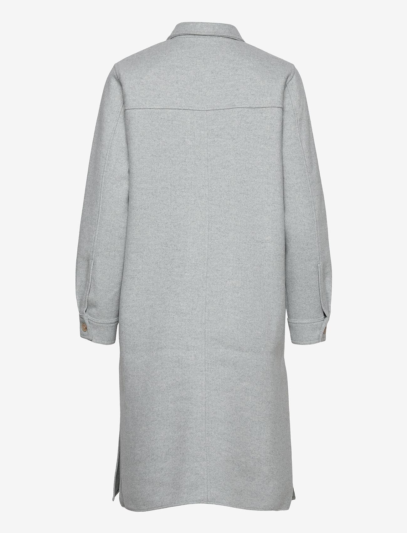 Norr - Helia long shirt - overshirts - light blue melange - 1