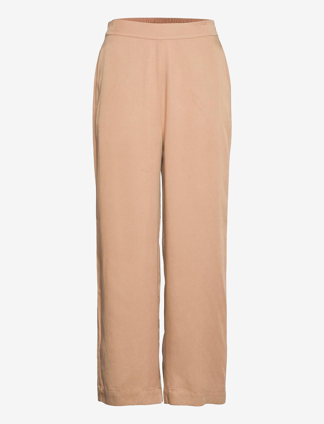 NORR - Jade pants - bukser med brede ben - beige - 0