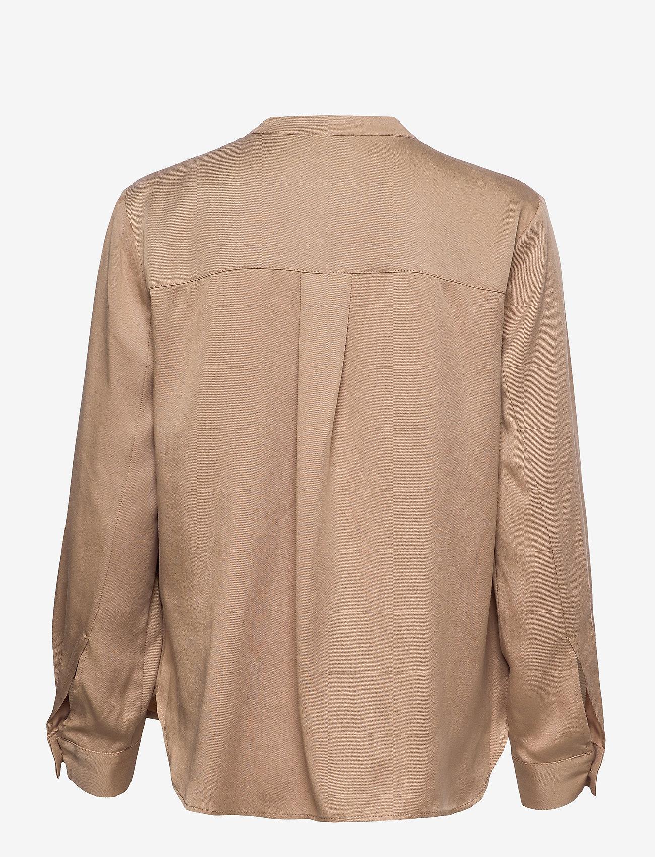 NORR - Jade shirt - langærmede skjorter - beige - 1
