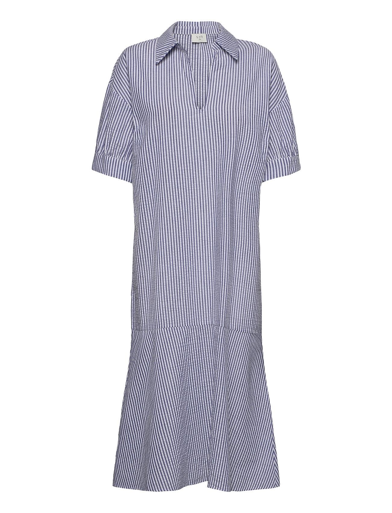 Gabriella Dress Knælang Kjole Blå NORR
