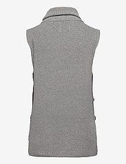 Norr - Marta button waistcoat - knitted vests - grey melange - 1