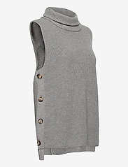 Norr - Marta button waistcoat - knitted vests - grey melange - 3