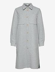 Norr - Helia long shirt - overshirts - light blue melange - 0