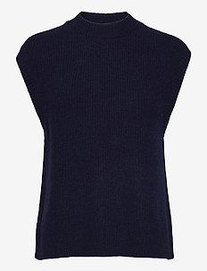 Elisha knit waistcoat - neuleliivit - blue melange