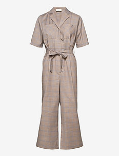 Yola jumpsuit - combinaisons - beige check