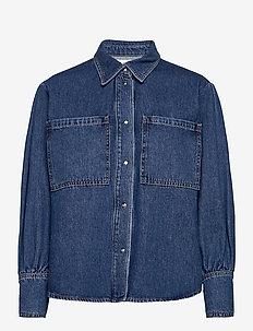 Texas shirt - jeansblouses - blue rinse denim