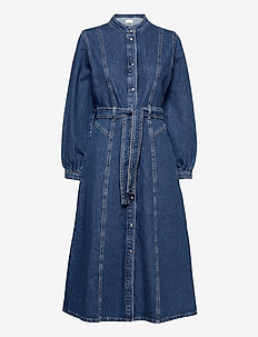 Texas dress - shirt dresses - blue rinse denim