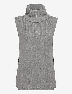 Marta button waistcoat - neuleliivit - grey melange
