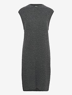 Elisha long knit - neuleliivit - dark grey