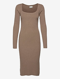 Flora knit dress - kotelomekot - light brown melange