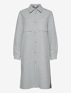 Helia long shirt - tunieken - light blue melange