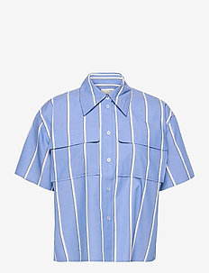 Marcy shirt - short-sleeved shirts - blue stripe