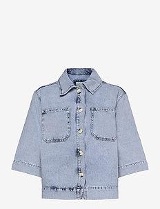 Lilah denim shirt - jeansjackor - light blue wash