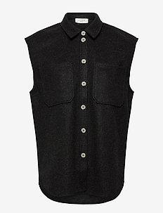 Helia waistcoat - strikveste - dark grey