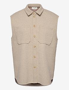 Helia waistcoat - strikveste - light beige mélange