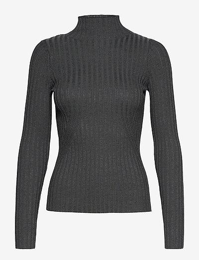 Karlina LS top - pulls - dark grey melange