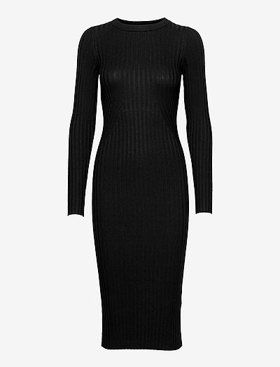 Karlina o-neck LS dress - robes d'été - black