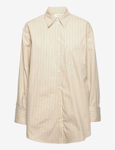 Elsbeth shirt - denimskjorter - ecru stripe