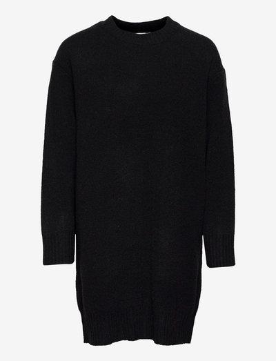 Nordby knit dress - robes en maille - black