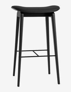 NY11 Bar Stool High - stole & skamler - black oak; ultra leather black