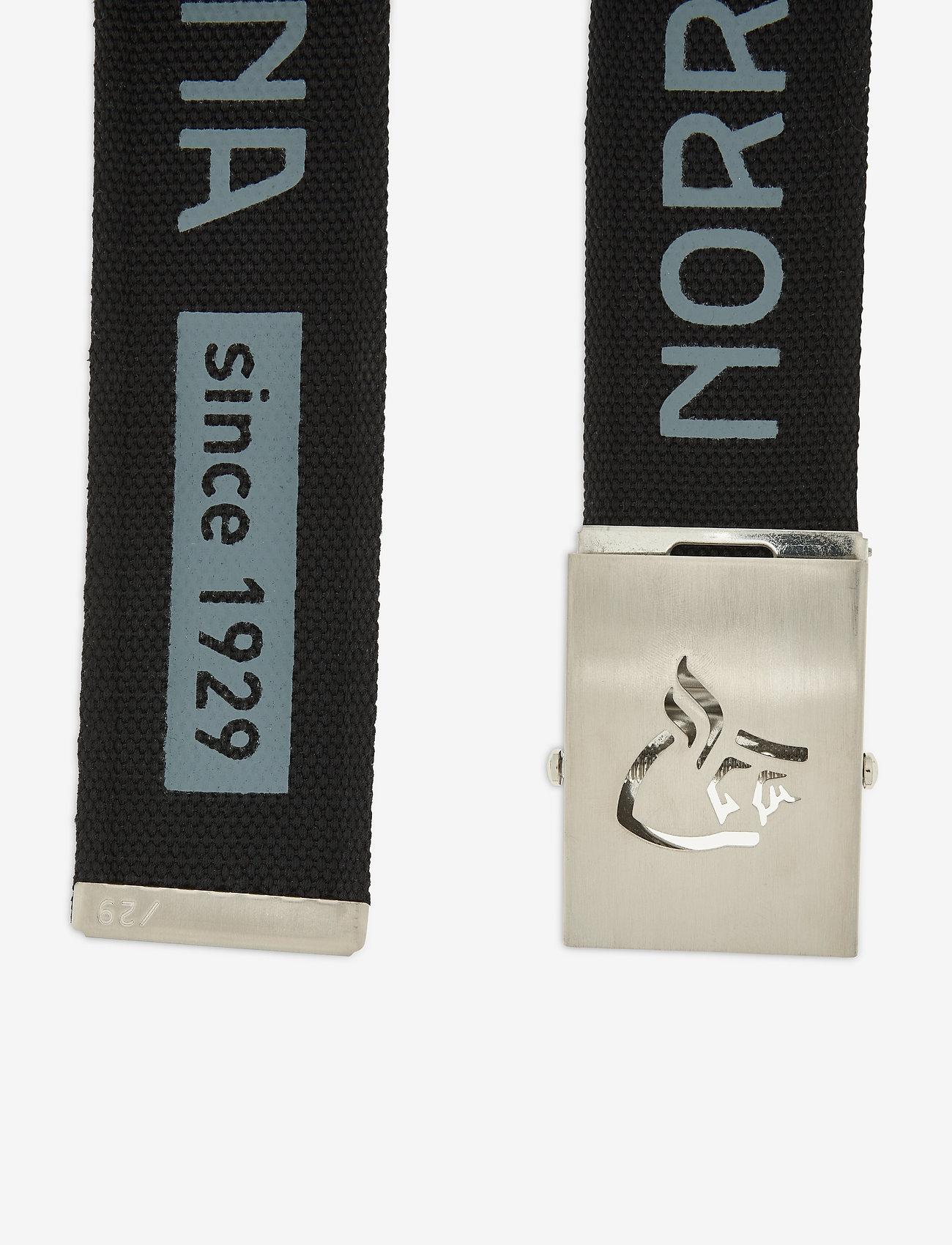 Norrøna - /29 viking head web clip belt - sportbälten - caviar - 1