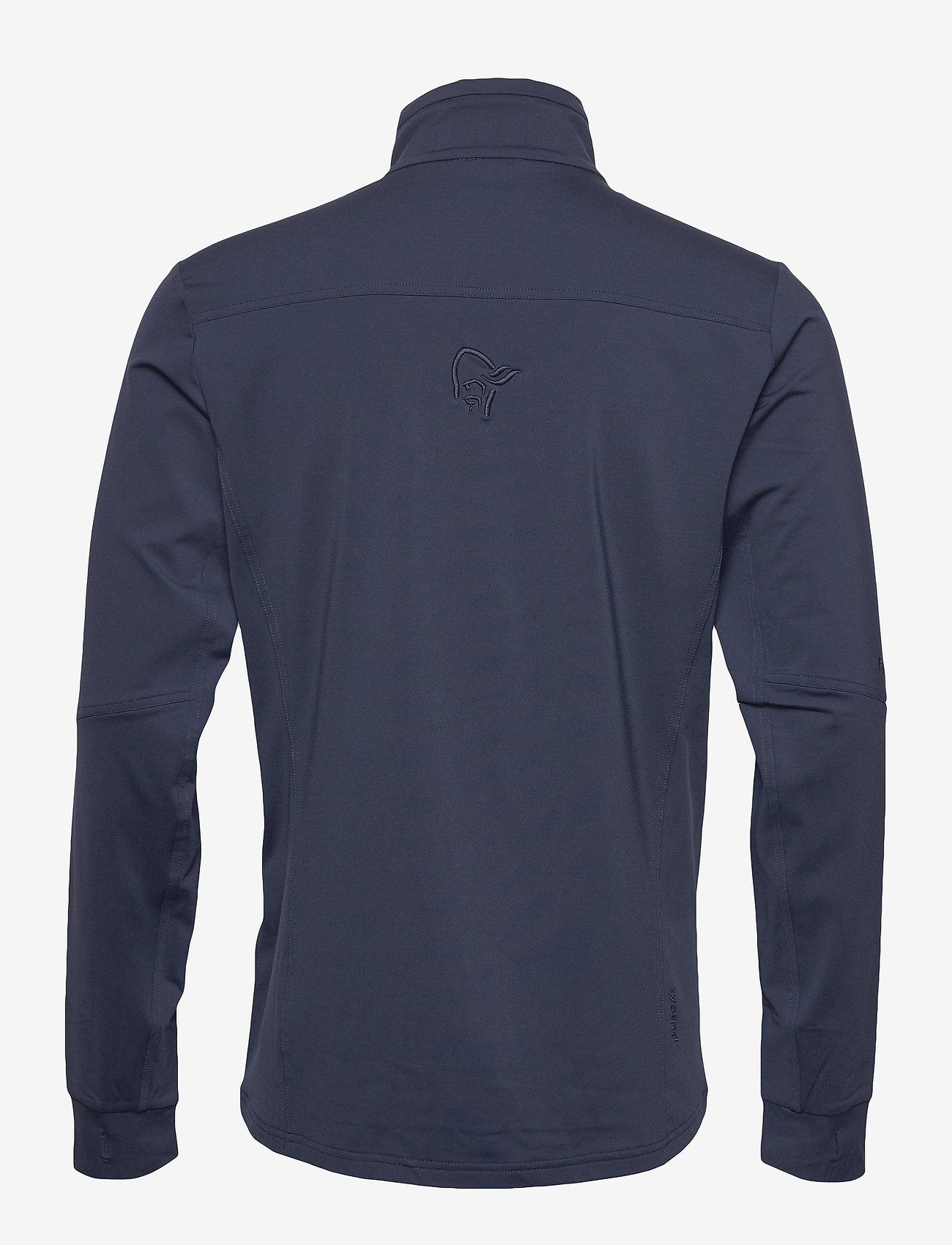 Norrøna - falketind warm1 stretch Jacket M's - fleece midlayer - indigo night - 1
