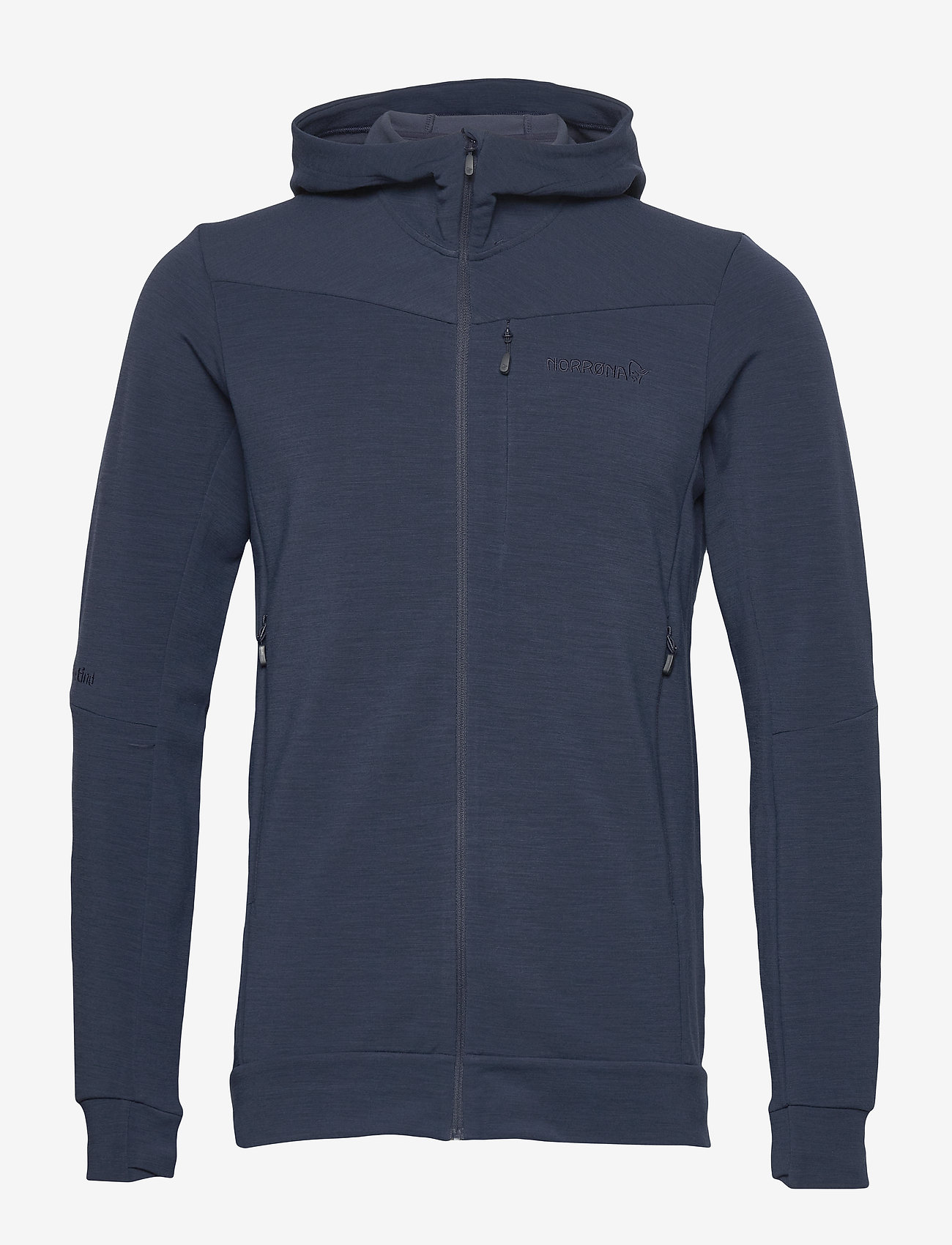 Norrøna - falketind warmwool2 stretch Zip Hood M's - mittlere lage aus fleece - indigo night - 0