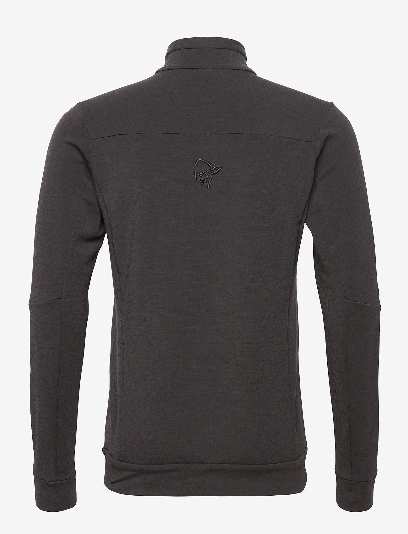 Norrøna - falketind warmwool2 stretch Jacket M's - podstawowe bluzy - caviar - 1