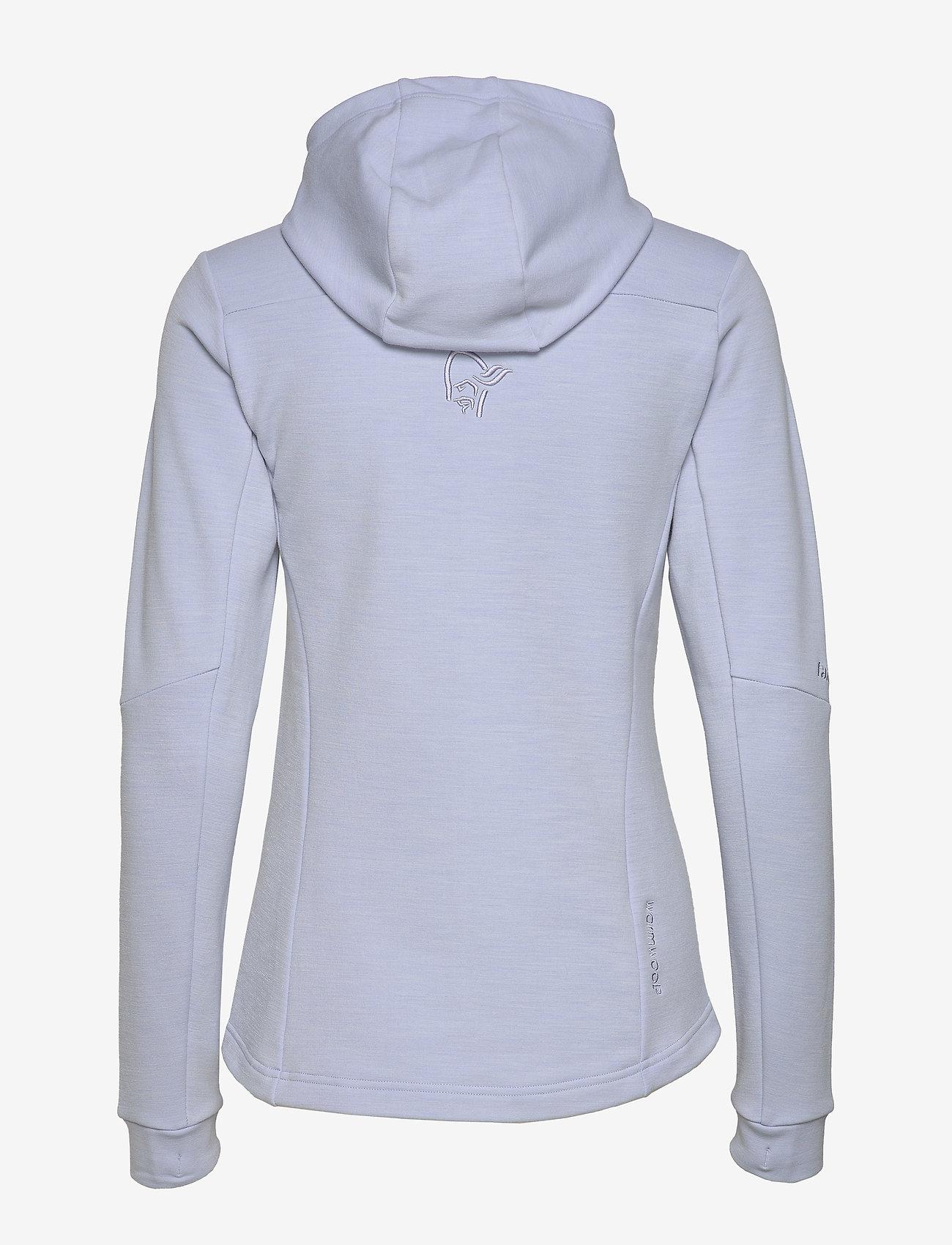 Falketind Warmwool2 Stretch Zip Hood W's (Serenity) - Norrøna azhnLF