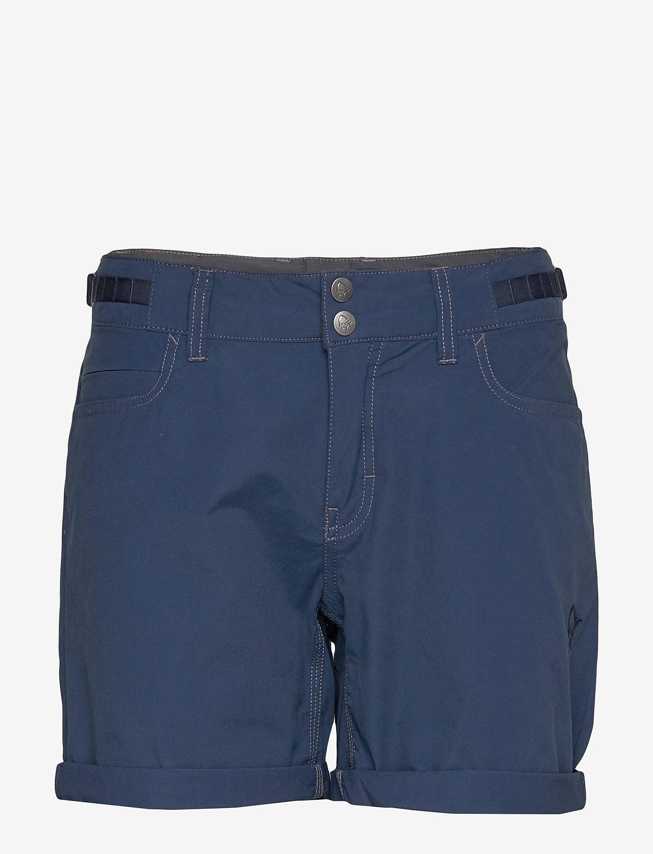 Norrøna - svalbard light cotton Shorts (W) - outdoorshorts - indigo night - 0