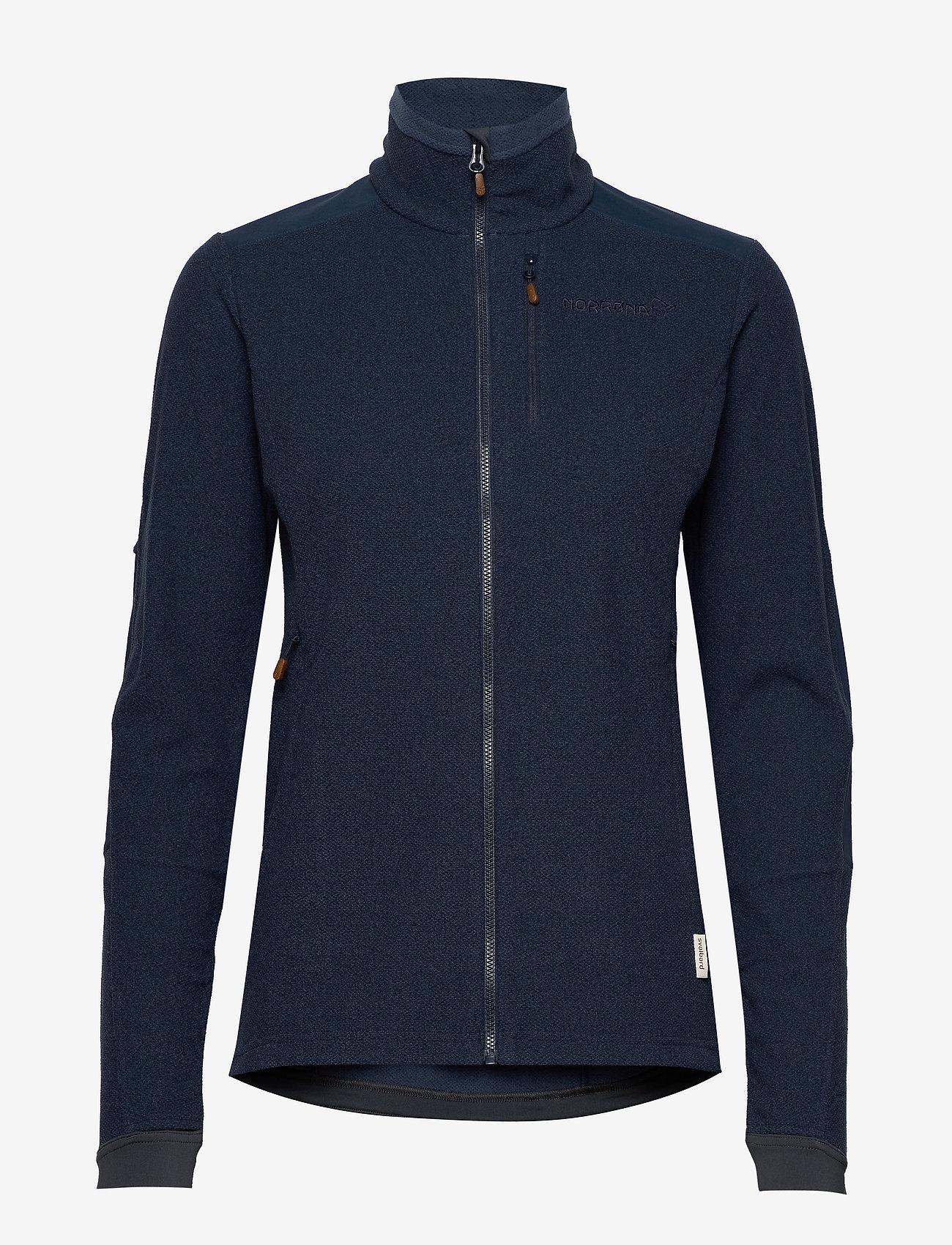 Norrøna - svalbard warm1 Jacket (W) - fleece midlayer - indigo night - 0