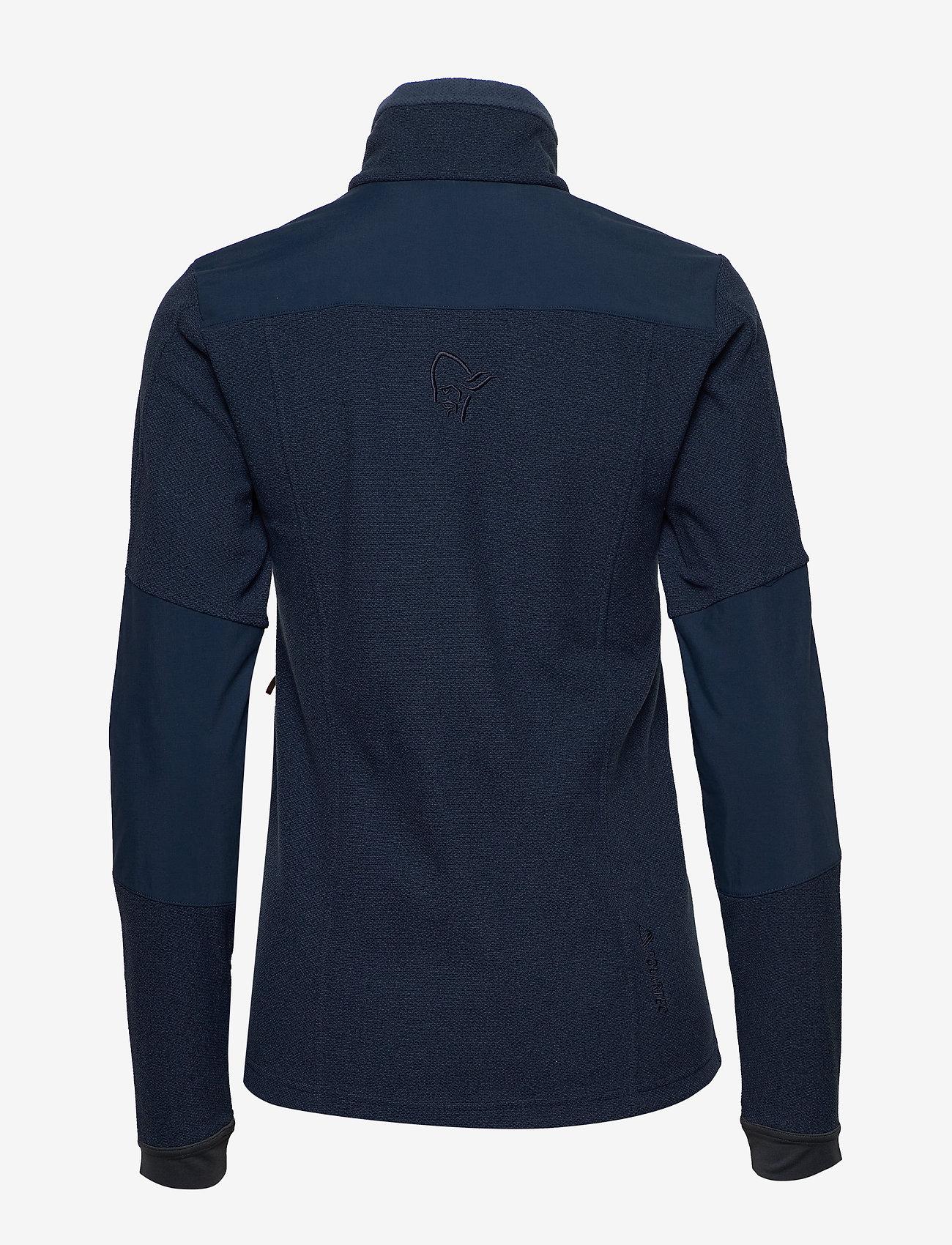 Norrøna - svalbard warm1 Jacket (W) - fleece midlayer - indigo night - 1