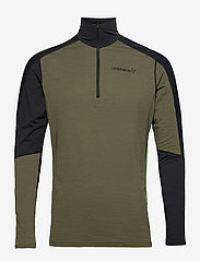 Norrøna - equaliser merino Zip Neck M's - termo undertrøje - olive night/foliage - 0