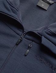 Norrøna - falketind warmwool2 stretch Zip Hood M's - mittlere lage aus fleece - indigo night - 2