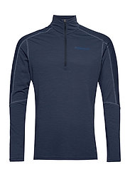 equaliser merino Zip Neck M's - INDIGO NIGHT