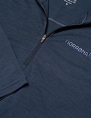 Norrøna - equaliser merino Zip Neck M's - thermo ondershirts - indigo night - 2
