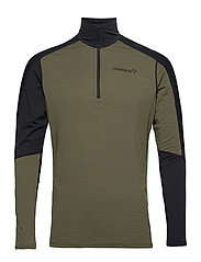 equaliser merino Zip Neck M's - OLIVE NIGHT/FOLIAGE