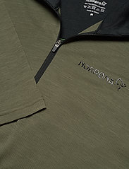 Norrøna - equaliser merino Zip Neck M's - termo undertrøje - olive night/foliage - 2