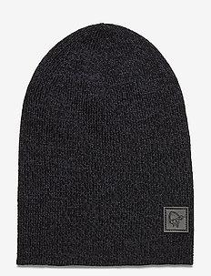 /29 thin marl knit Beanie - pipot - cool black