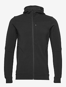 falketind warmwool2 stretch Zip Hood M's - fleece midlayer - caviar