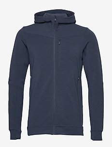falketind warmwool2 stretch Zip Hood M's - fleece midlayer - indigo night