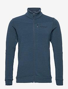 falketind warmwool2 stretch Jacket M's - fleece - indigo night