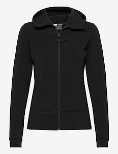 falketind warmwool2 stretch Zip Hood W's - fleece midlayer - caviar