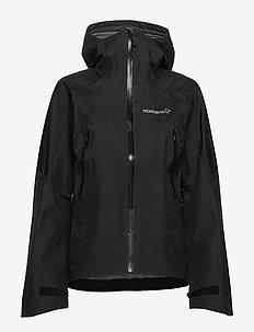 falketind Gore-Tex Jacket (W) - outdoor & rain jackets - caviar