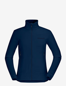 falketind warm1 stretch Jacket W's - mellomlag i fleece - indigo night