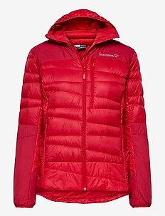 falketind down750 Hood W's - ulkoilu- & sadetakit - true red