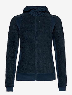 falketind Alpha120 Zip Hood W's - fleece midlayer - indigo night