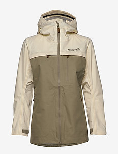 svalbard cotton Jacket (W) - friluftsjackor - ecru/sandstone