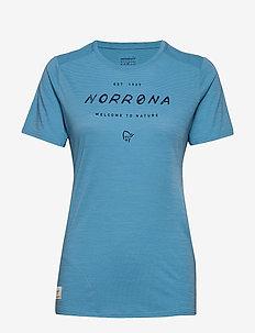 svalbard wool T-Shirt (W) - logo t-shirts - heritage blue
